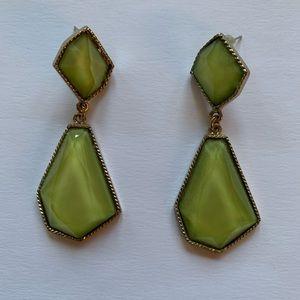 Green costume earrings
